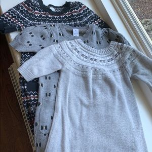 Carters Sweater Dresses (3) size 6